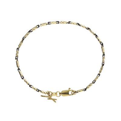 루메피우 옐로블랙 브래슬릿, Lume piu Yellow&Black Bracelet, 14k yellow gold, black gold