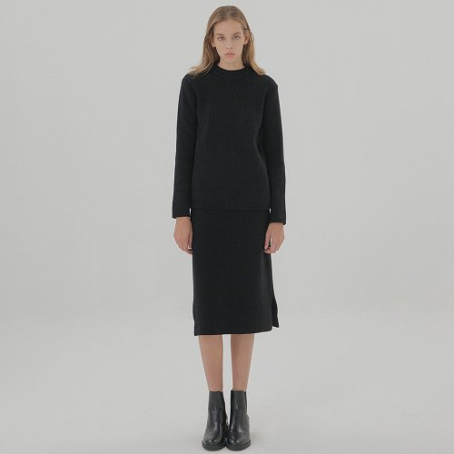 Wool Cashmere Pullover - Black