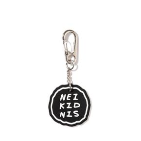 CAKE LOGO RUBBER KEY RING - BLACK