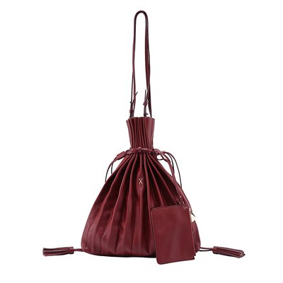 [조셉앤스테이시] Lucky Pleats Shopper Russet Brown