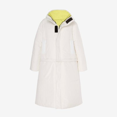 CAALO 칼로  REVERSIBLE CONVERTIBLE DOWN COAT WHITE/ACID LIME 106W