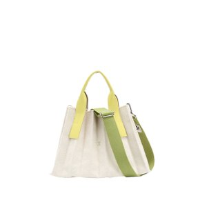 Lucky Pleats Canvas S Ivory_Lime(0JSK1CB40202F)