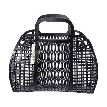PLASTIC MARKET BAG L Black