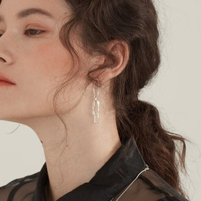 Chain connect Earring (Silver, Gold)