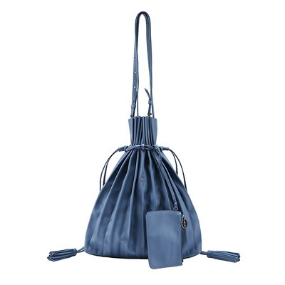 [조셉앤스테이시] Lucky Pleats Shopper British Blue