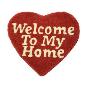 세컨랩 WELCOME TO MY HOME RUG MAT RED