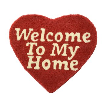 WELCOME TO MY HOME RUG MAT RED