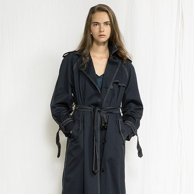 [조셉안] NAVY RAGLAN TRENCH COAT (1931687)