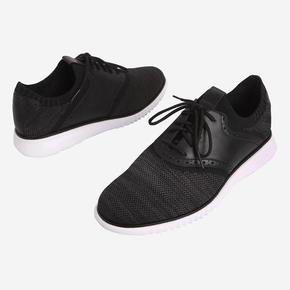 [COLE HAAN] MFW 2.0 GRAND PACKABLE SADDLE-KNIT BLACK KNIT/OPTIC WHITE [WIDTH:M] CHSO7E053BK