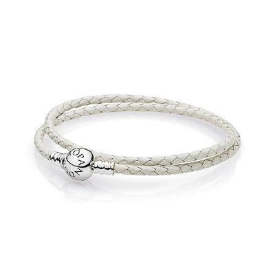 판도라 590745CIW Moments Double Woven Leather Bracelet