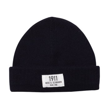 메르츠비슈바넨 TRMWBN03 BEANIE WITH PATCH 51 DARK NAVY