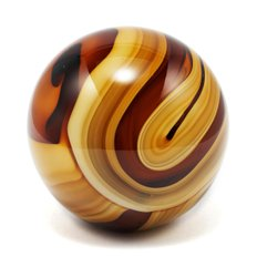 RO Glass Paper Weight Ø10 Amber