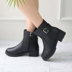 kami et muse Single belt point middle heel boots _KM18w198