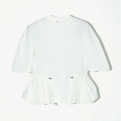 TOGA 토가 SATIN JERSEY TOP WHITE TA92-JK039-E