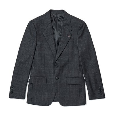 basic glen check suit _CWFBA18554GYD_CWFCA18554GYD