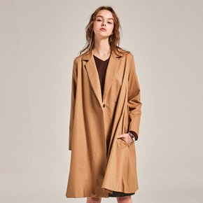 BRAN ONE BUTTON COAT_DARK BEIGE