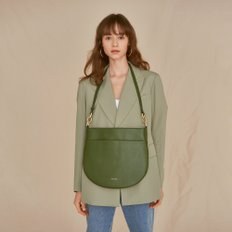 HALF MOON FLAT SHOULDER BAG MOSS