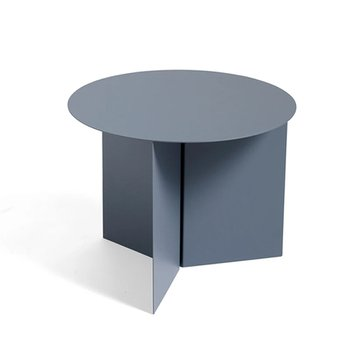 Slit Table Round Petrol Grey