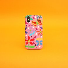 SUN CASE GRAPHIC FLOWER PINK