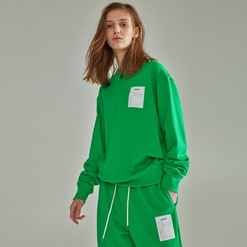 [NOHANT] NAME LABEL SWEATSHIRT GREEN