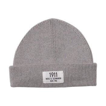 메르츠비슈바넨 TRMWBN03 BEANIE WITH PATCH 80 GREY MEL