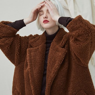 [35%할인적용가]Snuggle Teddy Coat - Brown
