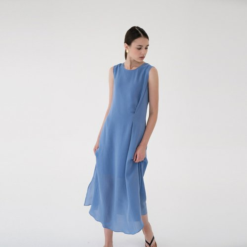 [15%할인적용가]cupra maxi dress (sky blue)