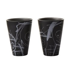 Great Guys thermo cups 2-pack black with white details