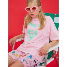 [MIMICAWE]  DOLLS ONLY KEY PRINT T/PINK