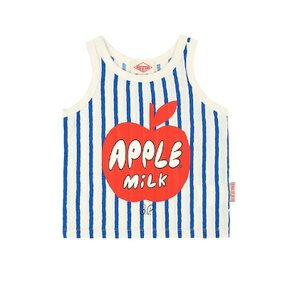 Apple milk vertical Stripe tank top