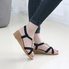 kami et muse Cubic strap 4.5wedge strap sandals_KM18s391