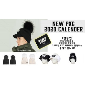[PXG정품] PXG  POMPOM NECK WARMER KNIT CAP (BLACK/GRAY)