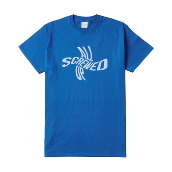 SCREWED TEE ROYAL BLUE