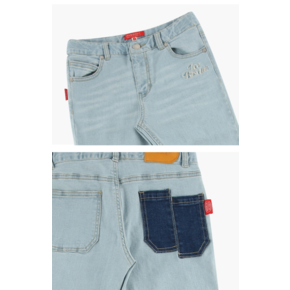Icebiscuit cut-off light denim pants/IB9131637