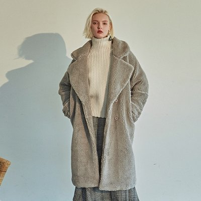 [DEANS] WARM DUMBLE LONG COAT_GRAY
