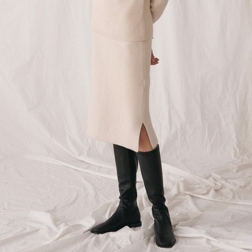 Wool Cashmere Skirt - Ivory