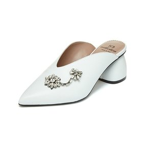 [파주점] Flower stone mule(white) DG2CX19301WHT