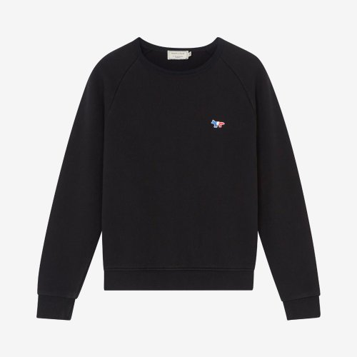 [PRE-ORDER] 20SS SWEATSHIRT TRICOLOR FOX PATCH BLACK WOMEN AW00302KM0002