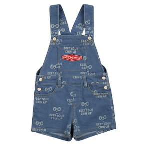 Multi keep your chin up denim overall