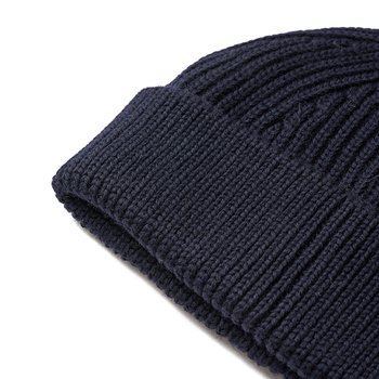BEANIE SHORT NAVY BLUE