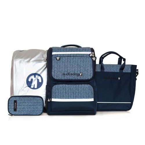 [DUCKS DAY] BACKPACK SET_SQUARE_NAVY