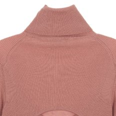 공식[NINA RICCI] W_STRETCH WOOL TURTLENECK W/ BACK CUT KNIT (DARK PINK)