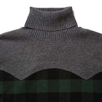 SHIRT MIX TURTLE NECK KNIT 그린