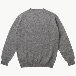 LAMBSWOOL CREW NECK MID GREY MELANGE