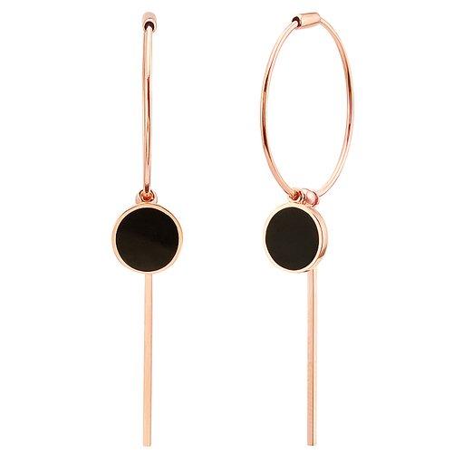 af6d63c62c3 14k 로이드 오닉스 원형 링 귀걸이
