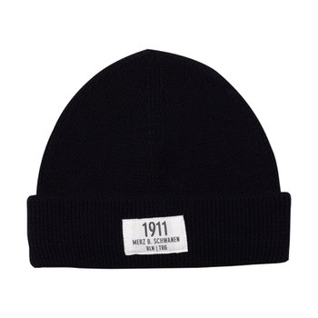 메르츠비슈바넨 TRMWBN03 BEANIE WITH PATCH 99 DEEP BLACK