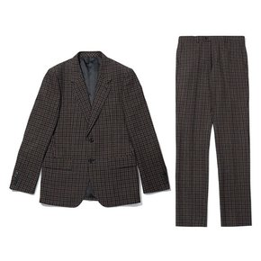 brown TOLLEGNO gingham check suit_CWFBW19755BRX_CWFCW19755BRX