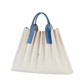 Lucky Pleats Canvas Ivory_British Blue(0JSJ5TT40104F)