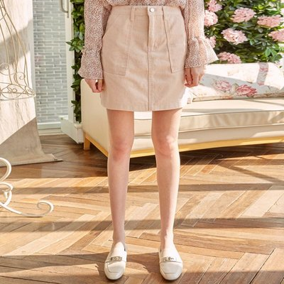 COTTON WASHING MINI SKT_PEACH (2222683)