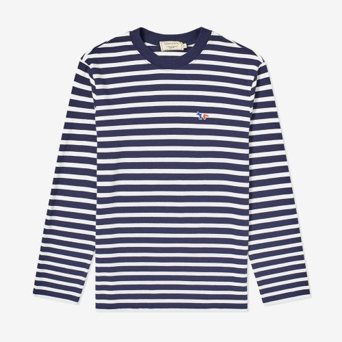 [PRE-ORDER] 19FW MARIN TEE-SHIRT TRICOLOR FOX PATCH NAVY/WHITE UNISEX  AU00105KJ2004